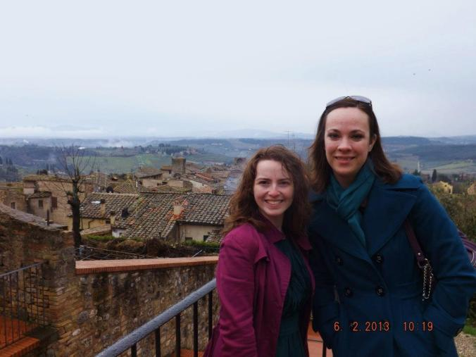 This lovely lady and I dragged each other through many an Italian village and, if we're being totally honest, more than one hangover.