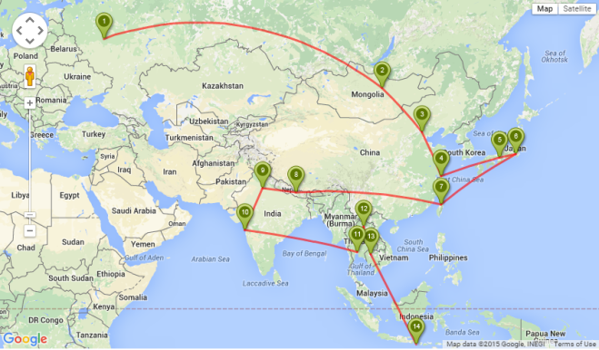 Asia Itinerary 1